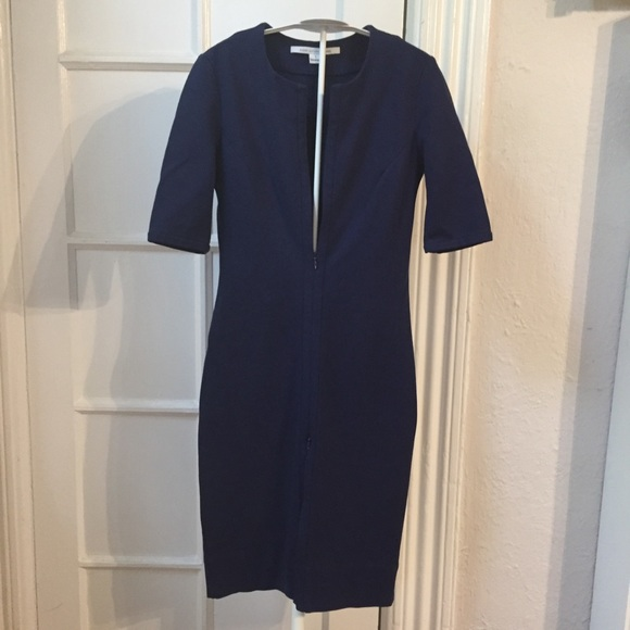 Diane Von Furstenberg Dresses & Skirts - Diane Von Furstenberg blue Saturn zipper dress 0